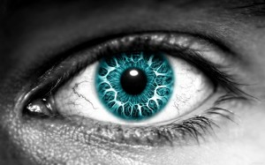 Manipulated image of an blue eye