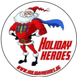 Holiday heroes Christmas badge