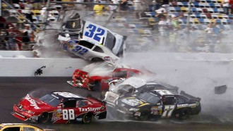 A moment of NASCAR crash
