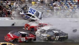 A moment of NASCAR crash