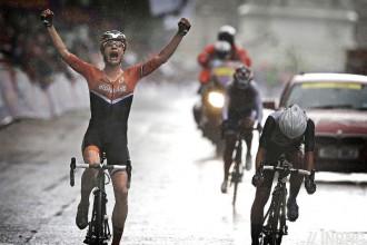 A biker wins the race