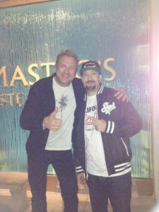 BigMike taking photo and smiling with B-real